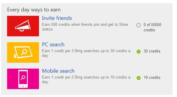 quietly adds new way to earn Bing Rewards points via mobile search