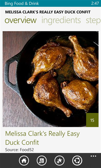 Microsoft releases bing food drink app for windows phone neowin like its big brother the windows phone 8 version allows users to check out a ton of food recipes along with guides such as how to select the best wine or forumfinder Gallery