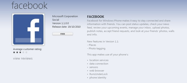 Facebook update hits Windows Phone 7 - Neowin