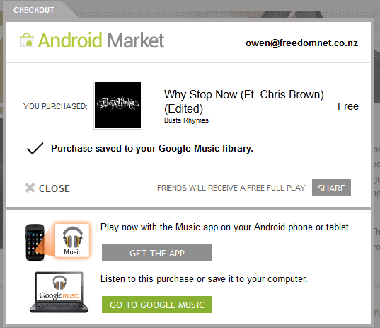 Android Market now features music; we go hands on