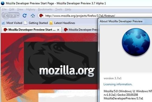 Firefox 3.7a1