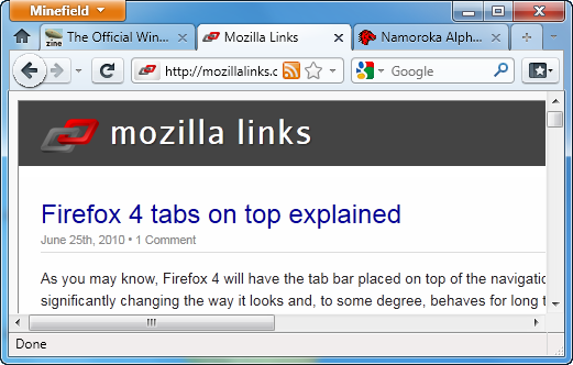 Firefox 4 theme