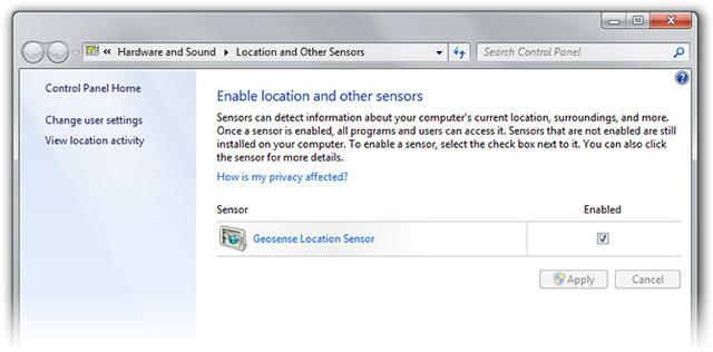 Windows 7 Location Sensor Released