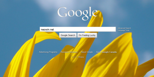 Google release a new option on its homepage, customizable user backgrounds.