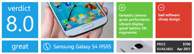 Review: Samsung Galaxy S4 (3G i9500 and 4G i9505) - Neowin
