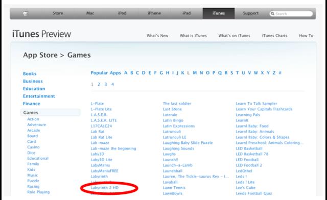 iPad HD Titles
