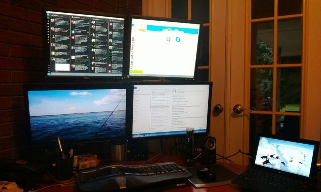 Someone Has Made A Surface Pro Workstation Setup With Four