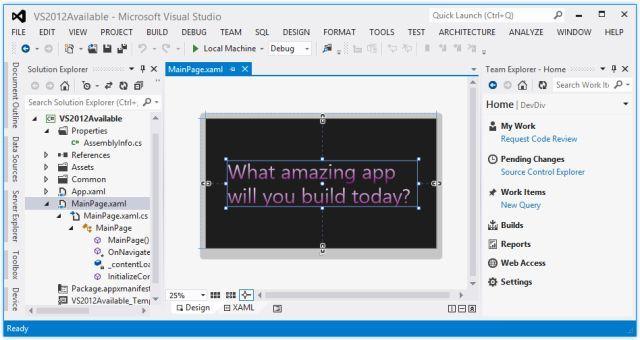 Microsoft Visual Studio full screenshot