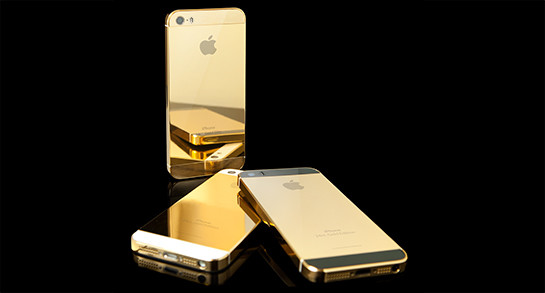 goldgenie is selling the iphone 5s with real gold cases