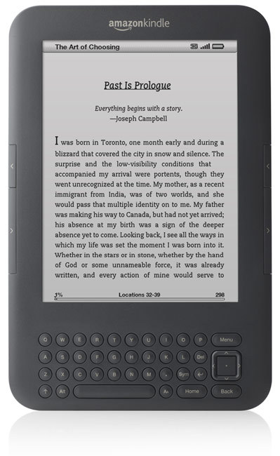 Amazon's new Kindle e-reader (Credit: Amazon)