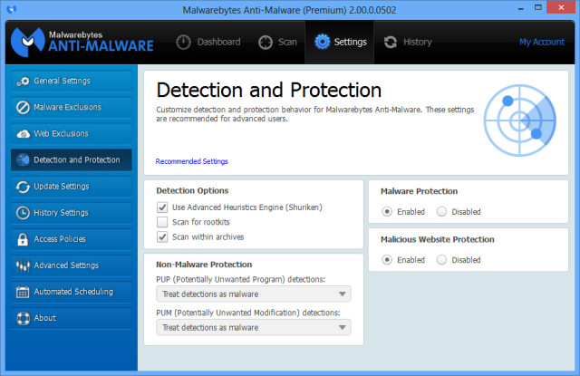 malwarebytes premium website protection disabled