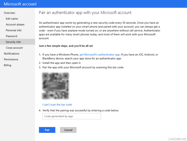Leak shows two-factor authentication is coming to Microsoft