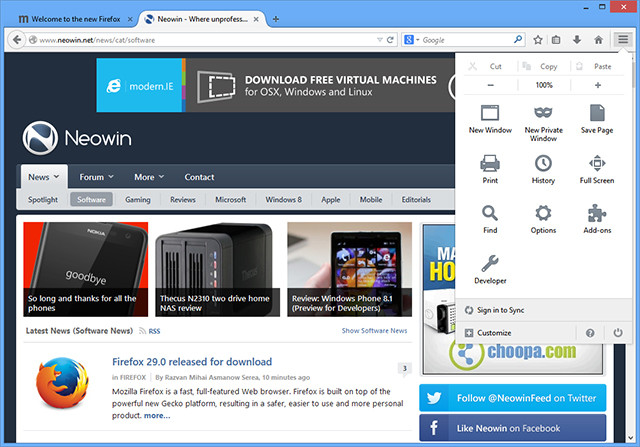 Firefox 29 0 released for download - Neowin
