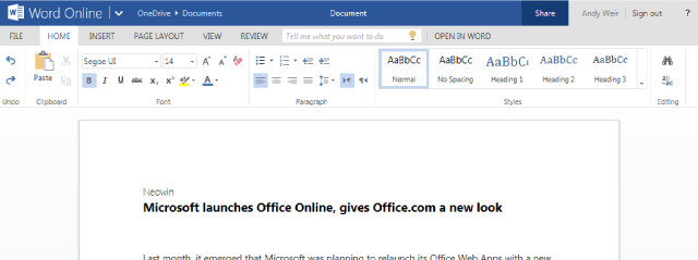 Microsoft launches Office Online, gives Office.com a new ...