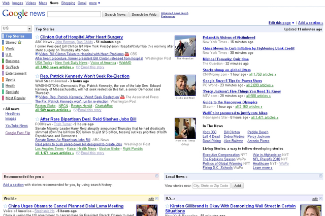 Old Google News