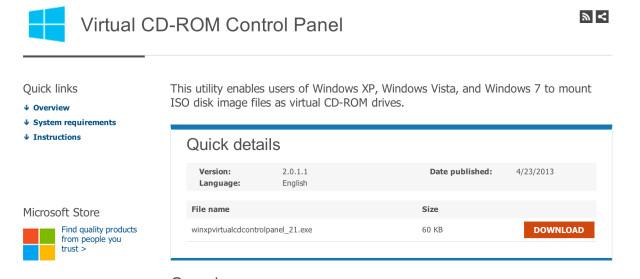 mount iso on windows xp