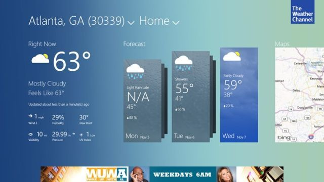 the weather channel windows 8 app debuts