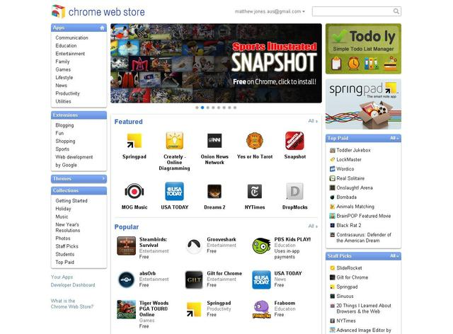 Google Chrome Web Store: First Impressions - Neowin