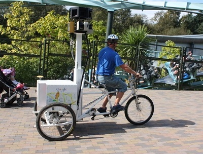 Street View trike used to capture images of theme parks