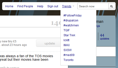 Twitter starts to integrate search and trends
