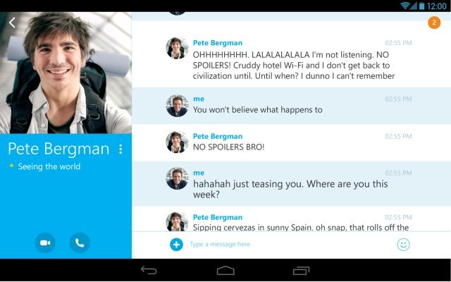 Skype for Android updated to 4 4