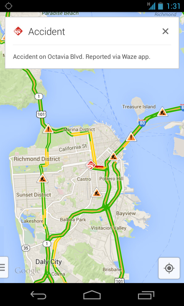 Google adds Waze traffic reporting to Google Maps