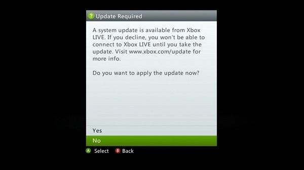 Minor Xbox 360 Dashboard update rolling out