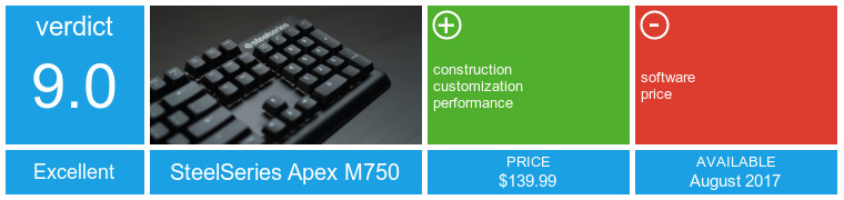 apex home health adds steelseries apex m750 keyboard review power and poise neowin